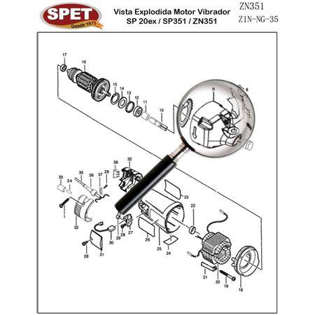 Caixa de Engrenagens Pos 8 / Ref Bosch F000600375 Pos 21 / Peça para Motor Vibrador ZN351 Caixa de Engrenagens Pos 8 / Ref 4320102001 / Ref Bosch F000600375 Pos 21 / Peça ZN351