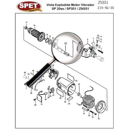 Eixo de Articulação Pos 10 / Ref Bosch F000619019 Pos 27 / Peça para Motor Vibrador ZN351 Eixo de Articulação Pos 10 / Ref 4320104009 / Ref Bosch F000619019 Pos 27 / Peça ZN351