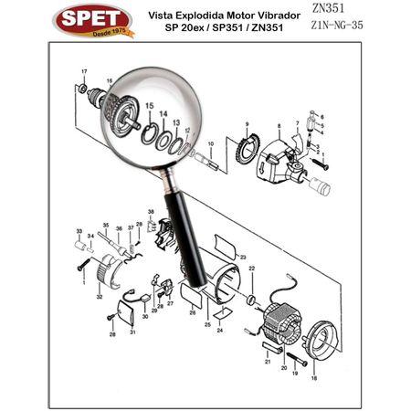Anel de Retenção Pos 15 / Ref Bosch 1600119008 Pos 47 / Peça para Motor Vibrador ZN351 Anel de Retenção Pos 15 / Ref 49207012 / Ref Bosch 1600119008 Pos 47 / Peça ZN351