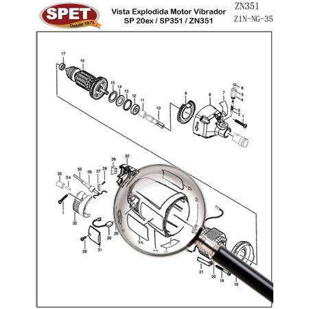 Etiqueta / Rótulo Pos 24 / Ref 4149125005 / Peça para Motor Vibrador ZN351 Etiqueta / Rótulo Pos 24 / Ref 4149125005 / Peça ZN351