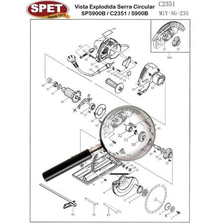 Parafuso Caixa Engrenagem Pos 33 / Ref 49203008 / Peça para Serra SP5900B C2351 Parafuso Caixa Engrenagem Pos 33 / Ref 49203008 / Peça Serra SP5900B C2351