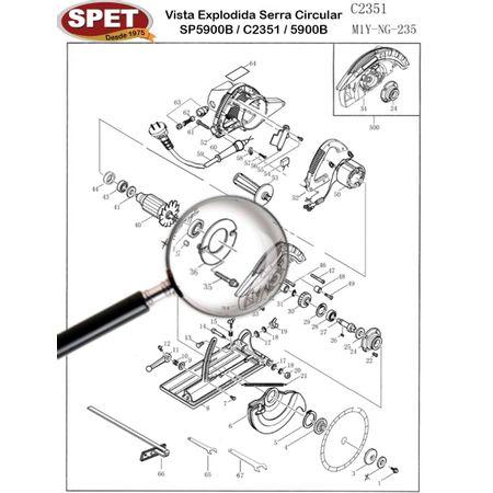 Defletor de AR Pos 36 / Ref 4090401002 / Peça para Serra SP5900B C2351 Defletor de AR Pos 36 / Ref 4090401002 / Peça Serra SP5900B C2351