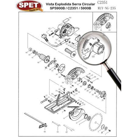 Estator Pos 50 / Ref 60309004 / Peça para Serra SP5900B C2351 Estator Pos 50 / Ref 60309004 / Peça Serra SP5900B C2351