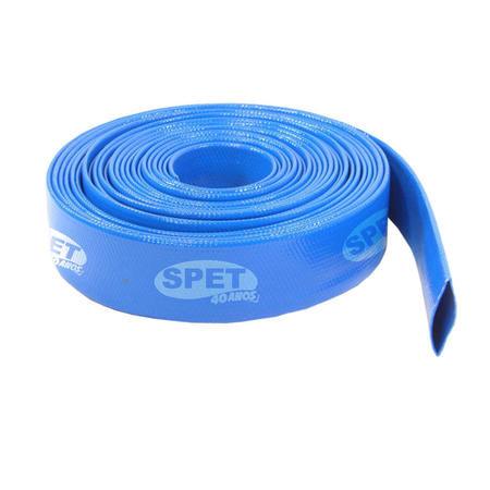 """Mangueira Chata em PVC 2""""x50 Flexível Azul (52 mm x 50 m) Condução de Água e Recalque Mangueira Chata PVC 2"""